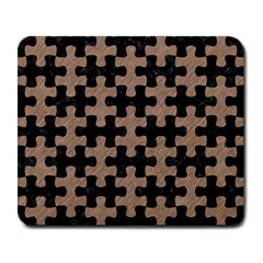 Puzzle1 Black Marble & Brown Colored Pencil Large Mousepad by trendistuff