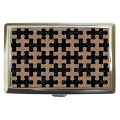 Puzzle1 Black Marble & Brown Colored Pencil Cigarette Money Case by trendistuff