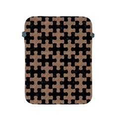 Puzzle1 Black Marble & Brown Colored Pencil Apple Ipad 2/3/4 Protective Soft Case by trendistuff