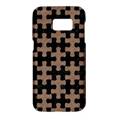 Puzzle1 Black Marble & Brown Colored Pencil Samsung Galaxy S7 Hardshell Case  by trendistuff