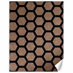 Hexagon2 Black Marble & Brown Colored Pencil (r) Canvas 12  X 16  by trendistuff