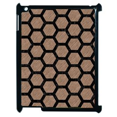 Hexagon2 Black Marble & Brown Colored Pencil (r) Apple Ipad 2 Case (black) by trendistuff