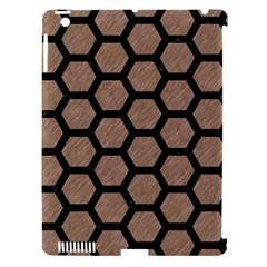 Hexagon2 Black Marble & Brown Colored Pencil (r) Apple Ipad 3/4 Hardshell Case (compatible With Smart Cover) by trendistuff
