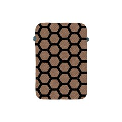 Hexagon2 Black Marble & Brown Colored Pencil (r) Apple Ipad Mini Protective Soft Case by trendistuff