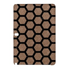 Hexagon2 Black Marble & Brown Colored Pencil (r) Samsung Galaxy Tab Pro 12 2 Hardshell Case by trendistuff
