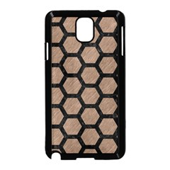 Hexagon2 Black Marble & Brown Colored Pencil (r) Samsung Galaxy Note 3 Neo Hardshell Case (black) by trendistuff