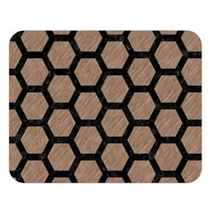 Hexagon2 Black Marble & Brown Colored Pencil (r) Double Sided Flano Blanket (large) by trendistuff