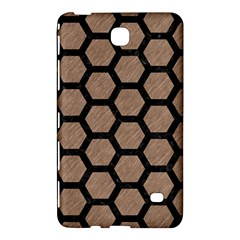 Hexagon2 Black Marble & Brown Colored Pencil (r) Samsung Galaxy Tab 4 (8 ) Hardshell Case  by trendistuff