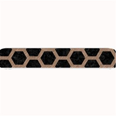 Hexagon2 Black Marble & Brown Colored Pencil Small Bar Mat by trendistuff