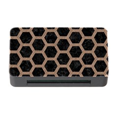 Hexagon2 Black Marble & Brown Colored Pencil Memory Card Reader With Cf by trendistuff