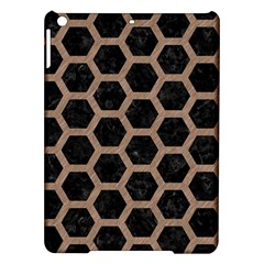 Hexagon2 Black Marble & Brown Colored Pencil Apple Ipad Air Hardshell Case by trendistuff