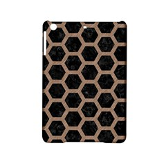 Hexagon2 Black Marble & Brown Colored Pencil Apple Ipad Mini 2 Hardshell Case by trendistuff
