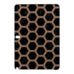 Hexagon2 Black Marble & Brown Colored Pencil Samsung Galaxy Tab Pro 12 2 Hardshell Case by trendistuff