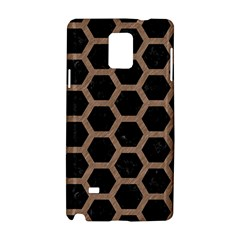 Hexagon2 Black Marble & Brown Colored Pencil Samsung Galaxy Note 4 Hardshell Case by trendistuff