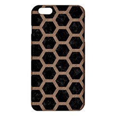 Hexagon2 Black Marble & Brown Colored Pencil Iphone 6 Plus/6s Plus Tpu Case by trendistuff