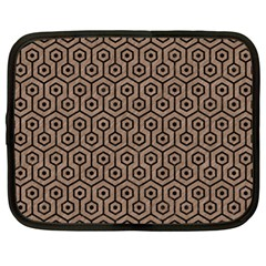 Hexagon1 Black Marble & Brown Colored Pencil (r) Netbook Case (xl) by trendistuff