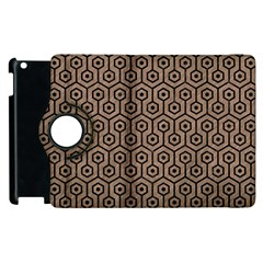 Hexagon1 Black Marble & Brown Colored Pencil (r) Apple Ipad 3/4 Flip 360 Case by trendistuff