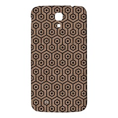 Hexagon1 Black Marble & Brown Colored Pencil (r) Samsung Galaxy Mega I9200 Hardshell Back Case by trendistuff