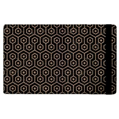 Hexagon1 Black Marble & Brown Colored Pencil Apple Ipad 2 Flip Case by trendistuff