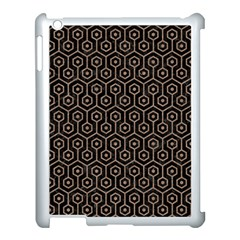 Hexagon1 Black Marble & Brown Colored Pencil Apple Ipad 3/4 Case (white) by trendistuff