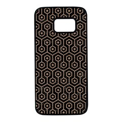 Hexagon1 Black Marble & Brown Colored Pencil Samsung Galaxy S7 Black Seamless Case by trendistuff