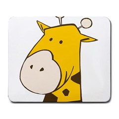Illustrain Giraffe Face Animals Large Mousepads by Mariart