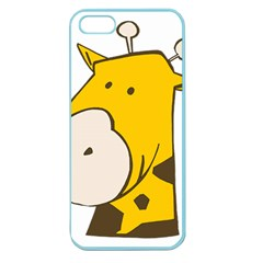Illustrain Giraffe Face Animals Apple Seamless Iphone 5 Case (color) by Mariart