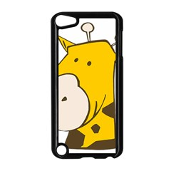 Illustrain Giraffe Face Animals Apple Ipod Touch 5 Case (black) by Mariart