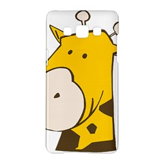 Illustrain Giraffe Face Animals Samsung Galaxy A5 Hardshell Case  by Mariart