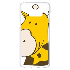 Illustrain Giraffe Face Animals Samsung Galaxy S8 Plus White Seamless Case by Mariart