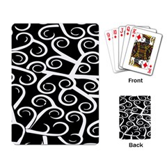 Koru Vector Background Black Playing Card by Mariart