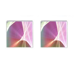 Light Means Net Pink Rainbow Waves Wave Chevron Cufflinks (square) by Mariart