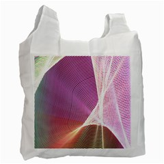 Light Means Net Pink Rainbow Waves Wave Chevron Recycle Bag (one Side) by Mariart