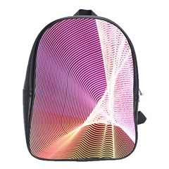 Light Means Net Pink Rainbow Waves Wave Chevron School Bags(large)