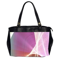 Light Means Net Pink Rainbow Waves Wave Chevron Office Handbags (2 Sides)