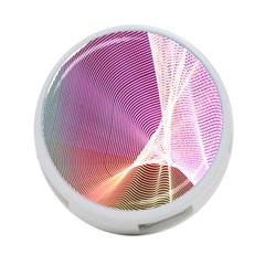 Light Means Net Pink Rainbow Waves Wave Chevron 4 Port Usb Hub (two Sides)  by Mariart