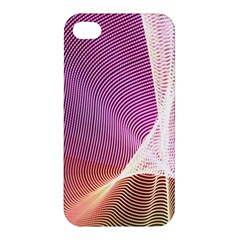 Light Means Net Pink Rainbow Waves Wave Chevron Apple Iphone 4/4s Hardshell Case by Mariart