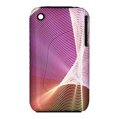 Light Means Net Pink Rainbow Waves Wave Chevron Iphone 3s/3gs by Mariart