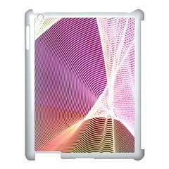 Light Means Net Pink Rainbow Waves Wave Chevron Apple Ipad 3/4 Case (white) by Mariart