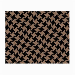 Houndstooth2 Black Marble & Brown Colored Pencil Small Glasses Cloth (2 Sides) by trendistuff