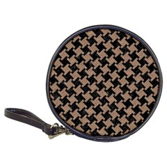 Houndstooth2 Black Marble & Brown Colored Pencil Classic 20 Cd Wallet by trendistuff