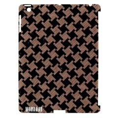 Houndstooth2 Black Marble & Brown Colored Pencil Apple Ipad 3/4 Hardshell Case (compatible With Smart Cover) by trendistuff