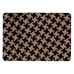Houndstooth2 Black Marble & Brown Colored Pencil Samsung Galaxy Tab 10 1  P7500 Flip Case by trendistuff