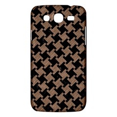Houndstooth2 Black Marble & Brown Colored Pencil Samsung Galaxy Mega 5 8 I9152 Hardshell Case  by trendistuff