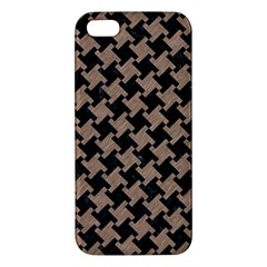 Houndstooth2 Black Marble & Brown Colored Pencil Iphone 5s/ Se Premium Hardshell Case by trendistuff