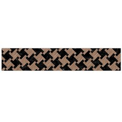 Houndstooth2 Black Marble & Brown Colored Pencil Flano Scarf (large) by trendistuff