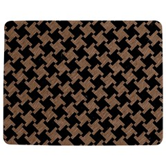 Houndstooth2 Black Marble & Brown Colored Pencil Jigsaw Puzzle Photo Stand (rectangular) by trendistuff