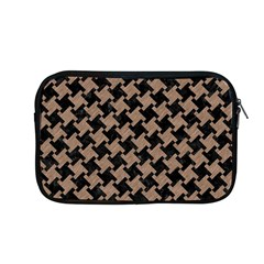 Houndstooth2 Black Marble & Brown Colored Pencil Apple Macbook Pro 13  Zipper Case by trendistuff
