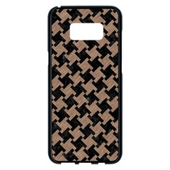 Houndstooth2 Black Marble & Brown Colored Pencil Samsung Galaxy S8 Plus Black Seamless Case by trendistuff
