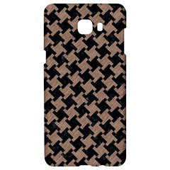 Houndstooth2 Black Marble & Brown Colored Pencil Samsung C9 Pro Hardshell Case